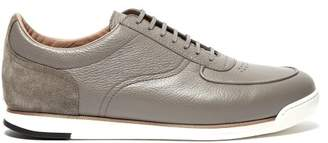 John Lobb Porth Low Top Leather And Suede Trainers - Mens - Grey Multi