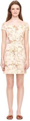 Rebecca Taylor La Vie Off-The-Shoulder Belle Bouquet Denim Dress