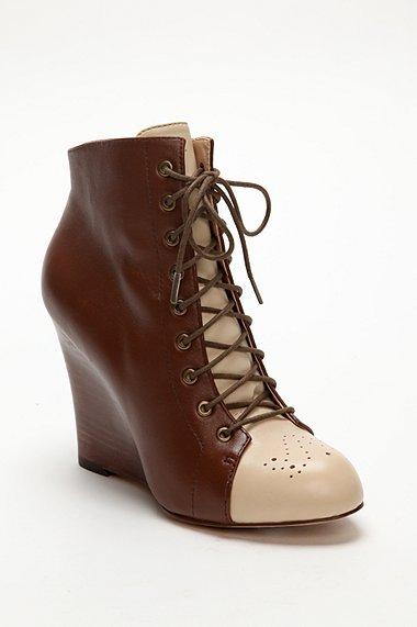 J. Aldridge by Sea of Shoes Wedge Bootie