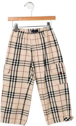 Burberry Boys' Nova Check Cargo Pants w/ Tags $75 thestylecure.com