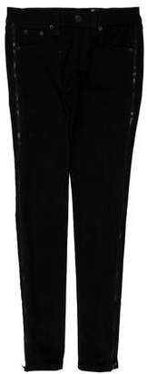 Rag & Bone Low-Rise Zip Jeans