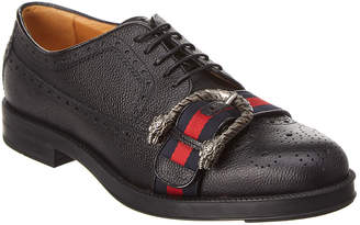 Gucci Beyond Tag Brogue Leather Wingtip Oxford