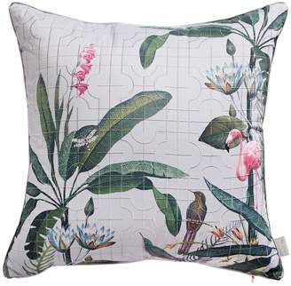 Ted Baker Embroidered Floral Print Cushion