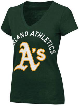 G-iii Sports Women's Oakland Athletics Classic Logo V-Neck T-Shirt
