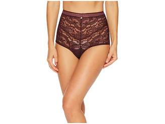 Versace High Waisted Lace Greek Panty Women's Underwear