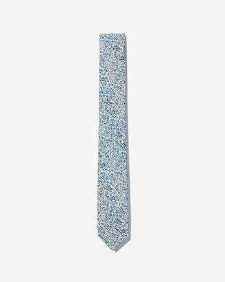Express Slim Floral Pattern Liberty Fabric Cotton Tie