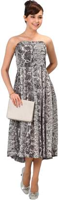 Sweet Mommy Nursing and Maternity Python Maxi Dress MGR