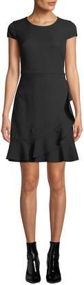 Karl Lagerfeld Paris Ruffle Detail Flounce Dress