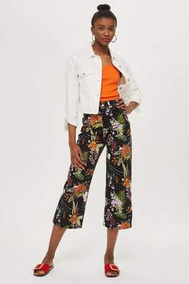 Topshop MOTO Tropical Diamante Cropped Jeans