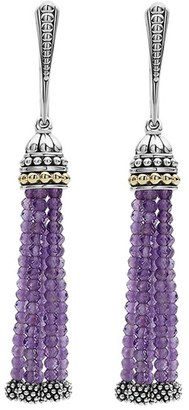 Women's Lagos Caviar Icon Tassel Drop Earrings $500 thestylecure.com