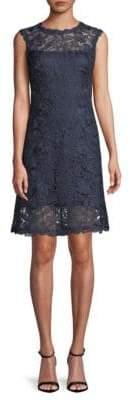 Tadashi Shoji Floral Lace Sleeveless Dress