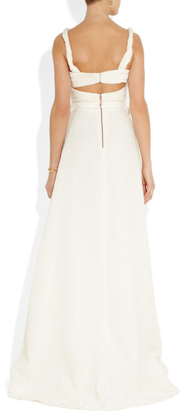 Sophia Kokosalaki Harmonia Matelassé Silk-blend Gown - Off-white