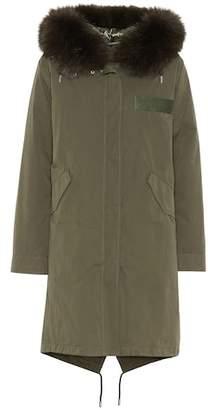 Yves Salomon Army Fur-trimmed cotton anorak