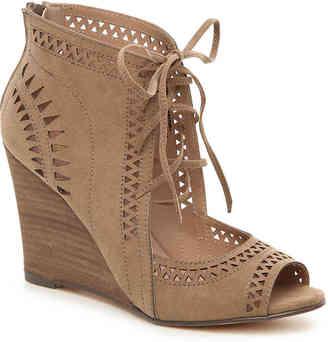 Women's Slow Motion Wedge Sandal -Cognac Faux Leather $75 thestylecure.com
