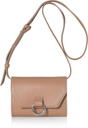Joanna Maxham Lady O Tan Leather Mini Crossbody Bag
