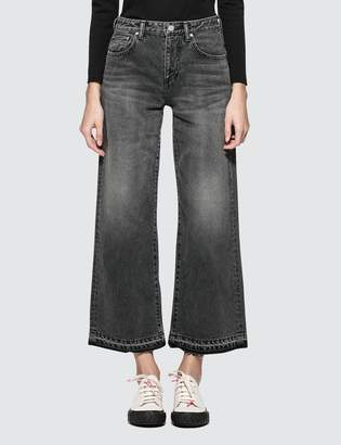 141e57c2657a2 John Elliott Lydia Jet Black Wide Leg Jeans