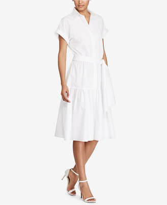 Lauren Ralph Lauren Fit & Flare Cotton Dress $125 thestylecure.com