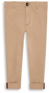 Gucci Little Boy's& Boy's Web-Cuff Gabardine Pants
