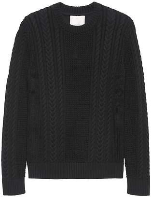 Banana Republic Heritage SUPIMA® Cotton Cable-Knit Crew-Neck Sweater