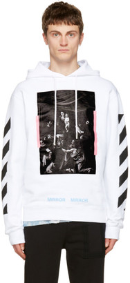Off-White White Diagonal Caravaggio Hoodie $540 thestylecure.com