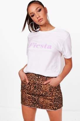 boohoo Tall Annabel Fiesta Slogan Pastel T-Shirt