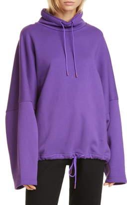 Martine Rose Batwing Oversized Drawcord Sweatshirt