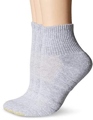 Gold Toe Women's Aqua FX Zone Quarter Athletic Sock (Pack of 3)
