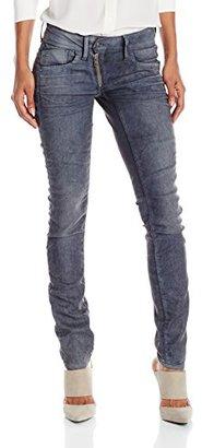 G-Star Raw Women's Lynn Mid Zip Skinny in Loomer Grey Stretch $150 thestylecure.com