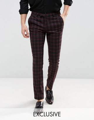 Noose & Monkey Tapered Pants In Check $103 thestylecure.com