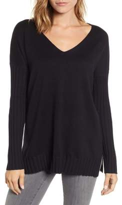 Vince Camuto V-Neck Ribbed Sweater