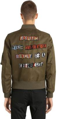 Valentino Jamie Reid Embellished Satin Jacket