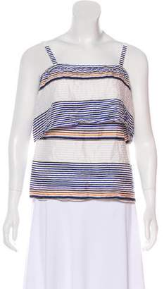 Tanya Taylor Striped Sleeveless Top