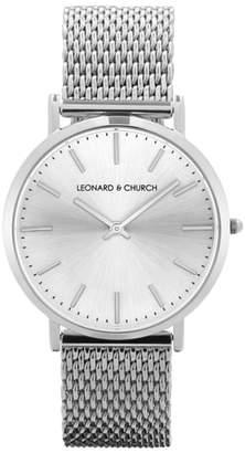 Church's LEONARD AND Leonard & Varick Mesh Strap Watch, 40mm
