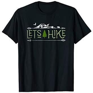 Vintage Classic Retro Lets Hike Nature Hiker Novelty T-Shirt