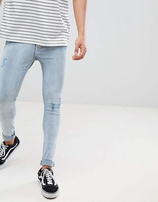 Just Junkies Skinny Fit Mid Distressed Wash Jeans