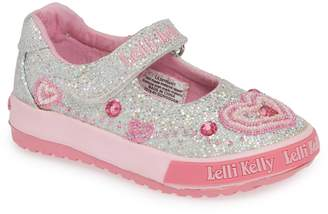 Lelli Kelly Kids Beaded Glitter Mary Jane Sneaker