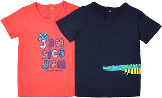 La Redoute Collections Pack of 2 Crew Neck T-Shirts, 1 Month-3 Years