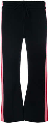 Semi-Couture Semicouture cropped striped track pants