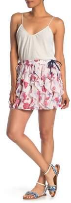 Endless Rose Darling Poppy Ruffled Mini Skirt