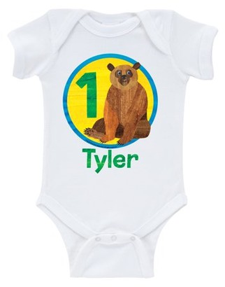 Brown Bear Birthday Boy Age White Infant Onesie