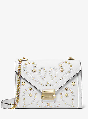 Michael Kors Whitney Large Embellished Leather Convertible Shoulder Bag
