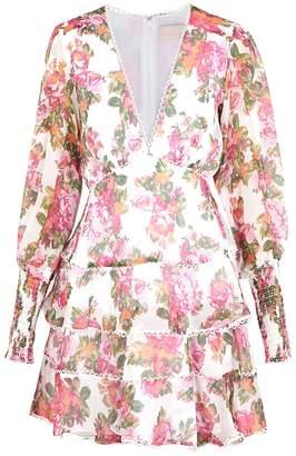 Keepsake Oblivion Floral Georgette Mini Dress