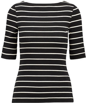Ralph Lauren Striped Cotton Bateau Tee $35 thestylecure.com