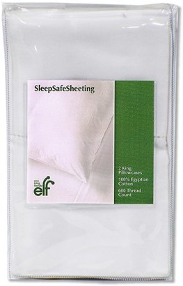 Sleep Safe ZipCovers Standard 2 Pack Pillow Cases / Sleep Safe Sheeting Egyptian Cotton Pillowcases / 600 Thread Count, 100% Luxurious Nile River Cotton