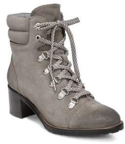 Sam Edelman Manchester Faux Fur Suede Lace-Up Boots