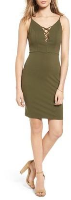 Women's Soprano Lace-Up Body-Con Dress $49 thestylecure.com