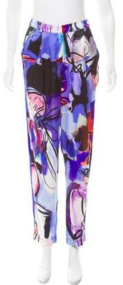 Giles Silk High-Rise Pants