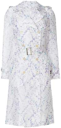 Max Mara double-breasted printed trench coat