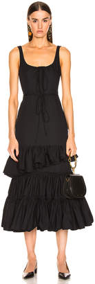 Brock Collection Ruffle Dress in Navy | FWRD