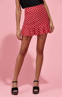 KENDALL + KYLIE Kendall & Kylie Polka Dot Ruffle Skirt